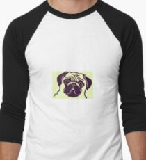 pug 17b Men's Baseball ¾ T-Shirt