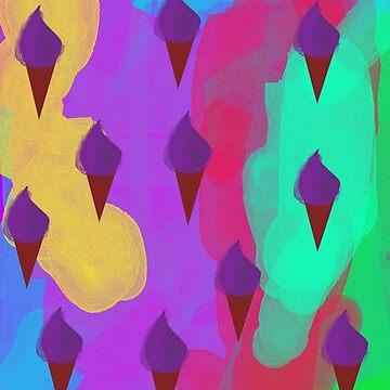 Ice Cream Dream by Kimberly J Graphics by kimberlyjartist