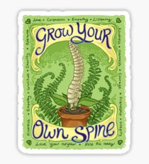 Grow Your Own Spine Sticker