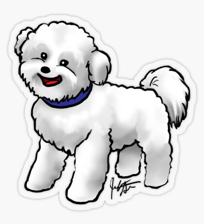 Bichon Frise Transparent Sticker