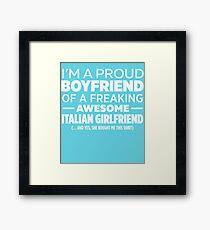 Italian Girlfriend Framed Print