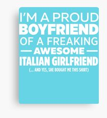 Italian Girlfriend Canvas Print