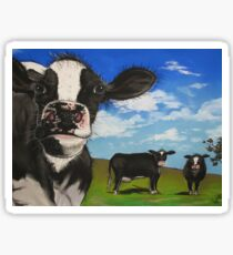 Cows in the Meadow Sticker