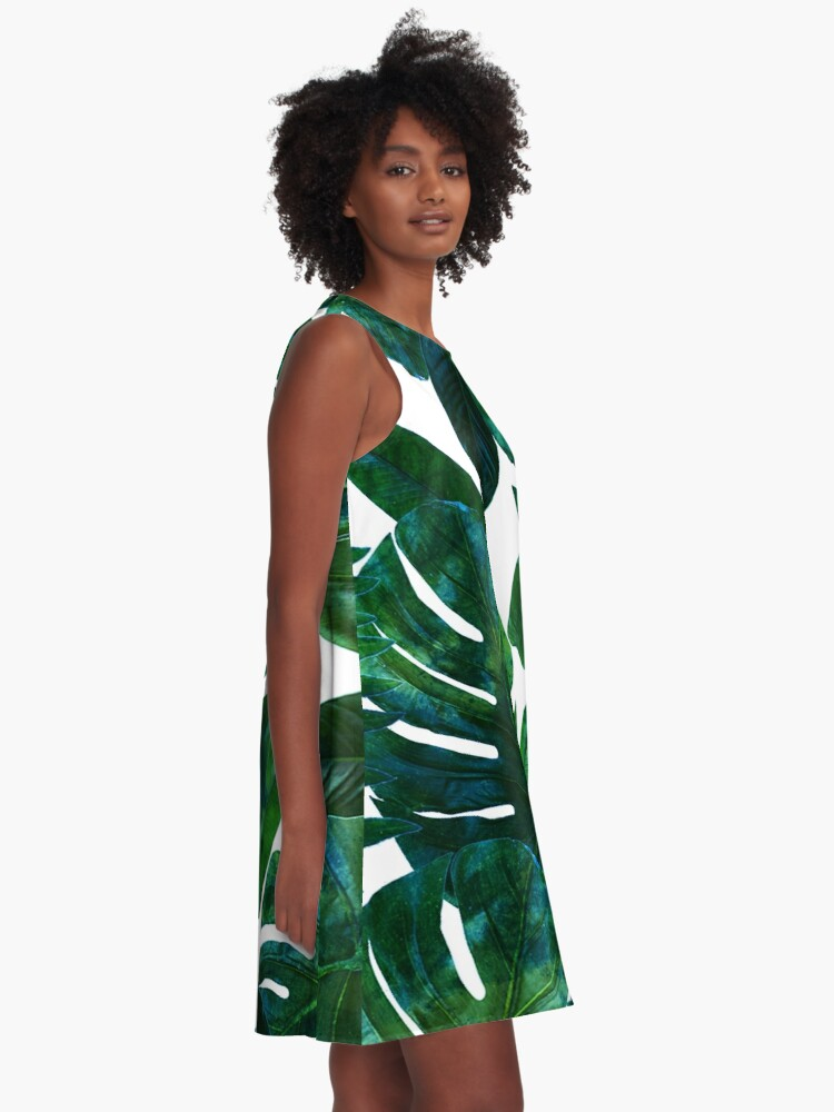 Alternate view of Perceptive Dream || #Redbubble #tropical #buyart A-Line Dress