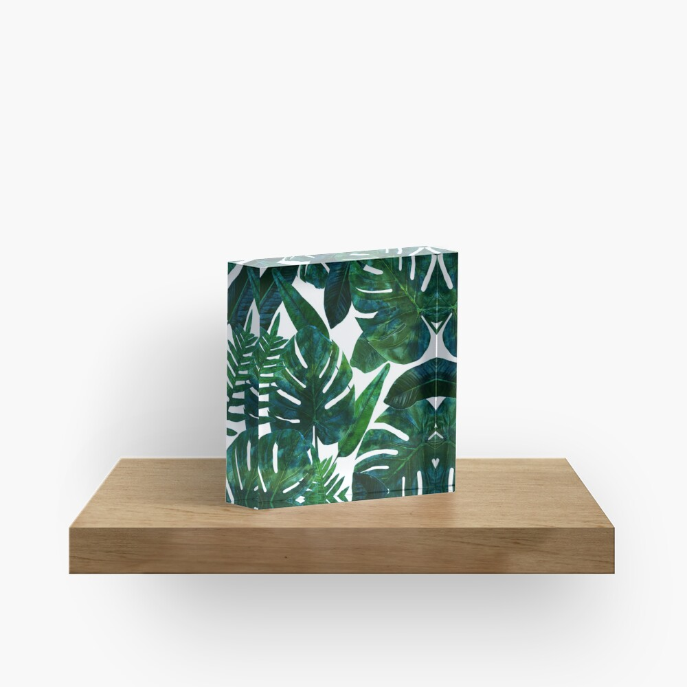 Perceptive Dream || #Redbubble #tropical #buyart Acrylic Block