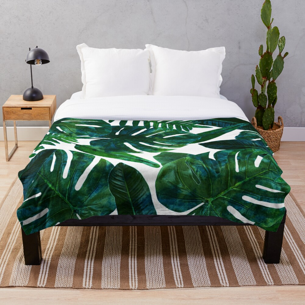 Perceptive Dream || #Redbubble #tropical #buyart Throw Blanket