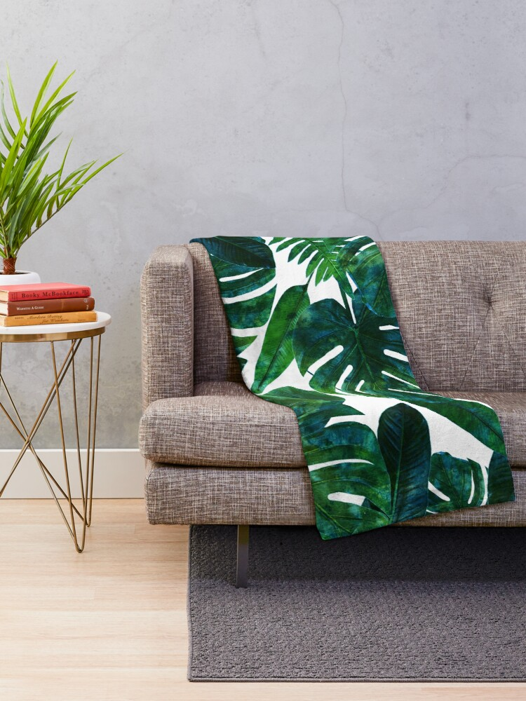 Alternate view of Perceptive Dream || #Redbubble #tropical #buyart Throw Blanket