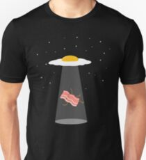Cool Bacon and Eggs UFO  T-Shirt