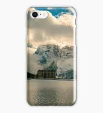 Misurina lake in a winter evening iPhone Case/Skin