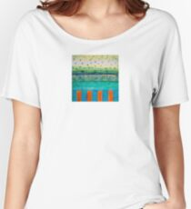 Orange Posts With Landscape Women's Relaxed Fit T-Shirt
