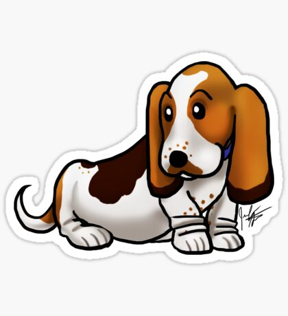 Basset Hound Sticker