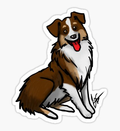 Australian Shepherd - Tri Color Glossy Sticker