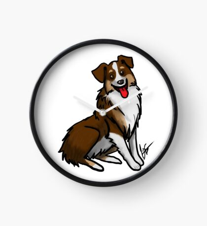 Australian Shepherd - Tri Color Clock