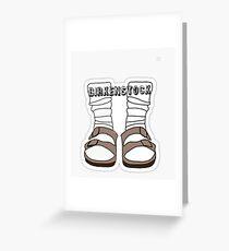 Tarjeta de felicitación Birkenstocks