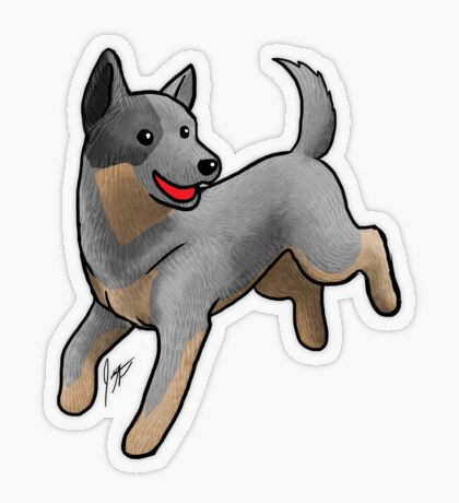 Australian Cattle Dog/ Blue Heeler Transparent Sticker