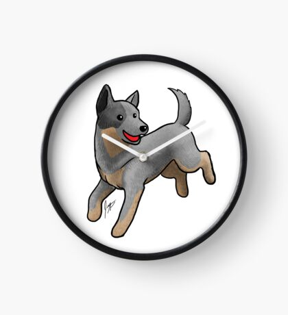 Australian Cattle Dog/ Blue Heeler Clock