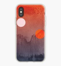 Star Wars A New Hope inspired artwork two suns iPhone Case