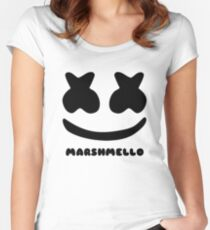 MARSHMELLO SIMPLE Women's Fitted Scoop T-Shirt