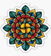 American Traditional Mandala Flower Sticker