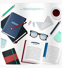 Modern Business Office Workspace Poster
