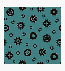 Industrial pattern. Gears Photographic Print