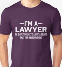 Lawyer Assume Unisex T-Shirt