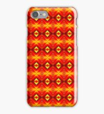Red Abstract Mirror Pattern iPhone Case/Skin