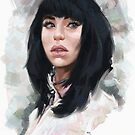 Portrait of Kimbra by Matt Katz