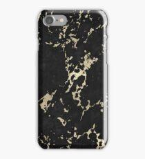 Schwarz-Goldener Marmor iPhone Case/Skin