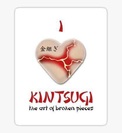 i love kintsugi Sticker