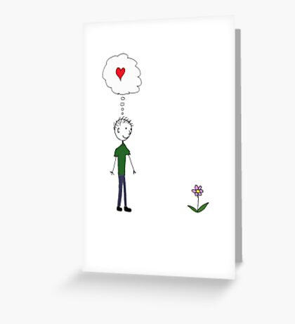 Love at first sight. Greeting Card