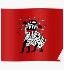 Cool Monster Illustration Poster