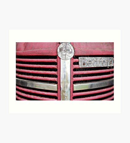 Red Grill (Bedford Truck) Art Print