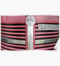 Red Grill (Bedford Truck) Poster