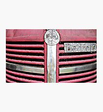 Red Grill (Bedford Truck) Photographic Print