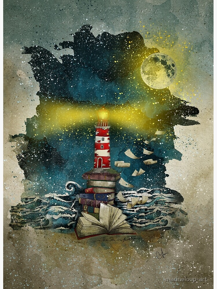 The sea is poetry by marineloup-art