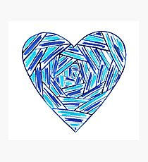 Striped hand drawn heart Photographic Print