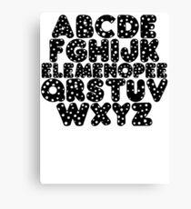 Elemenopee Alphabet Funny Canvas Print