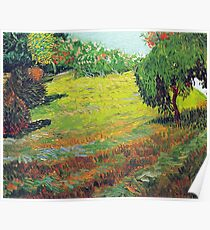 Vincent van Gogh Garden with Weeping Willow Poster