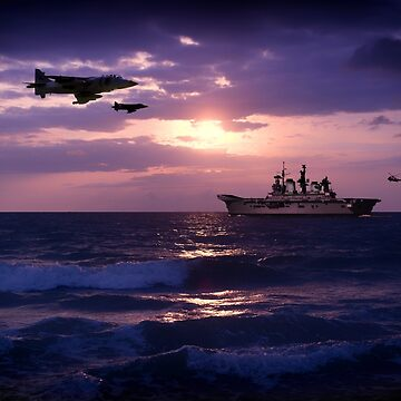 HMS Illustrious (RO6) by aviationart