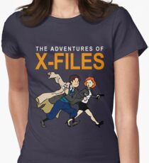 Tin Tin X-Files Womens Fitted T-Shirt