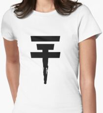 Tokio Hotel Logo (black, once) Womens Fitted T-Shirt