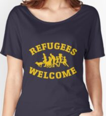 refugees welcome, no one is illegal Women's Relaxed Fit T-Shirt