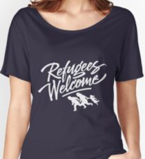 welcome refugees Women's Relaxed Fit T-Shirt