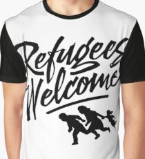 welcome refugees,no one's illegal Graphic T-Shirt
