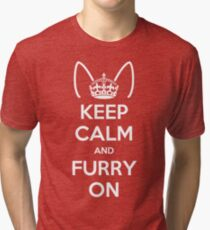 Keep Calm and Furry On Tri-blend T-Shirt