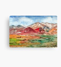 Landscape with mountains. Canvas Print