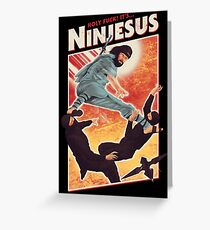 The Jesus Ninja Greeting Card