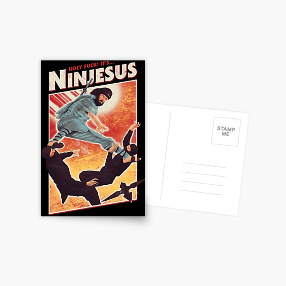 Der Jesus Ninja Postkarte