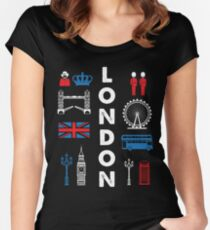 LONDON Capital city England Great Britain Women's Fitted Scoop T-Shirt